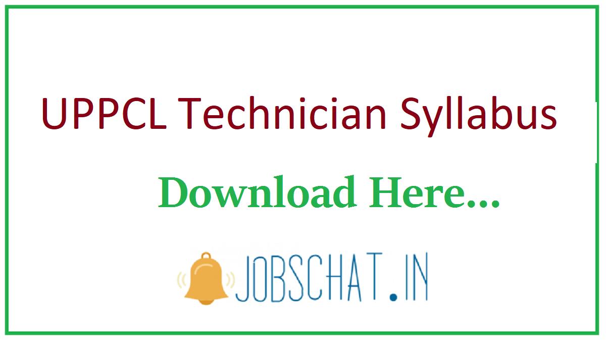 UPPCL Technician Syllabus