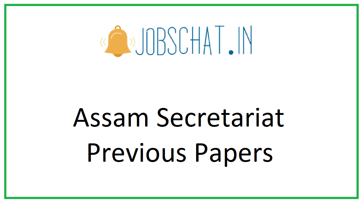 Assam Secretariat Previous Papers