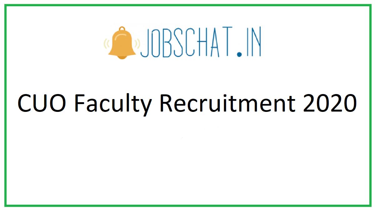 CUO Faculty Recruitment