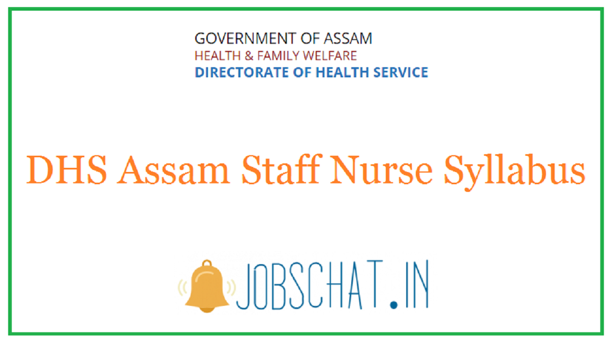 DHS Assam Staff Nurse Syllabus