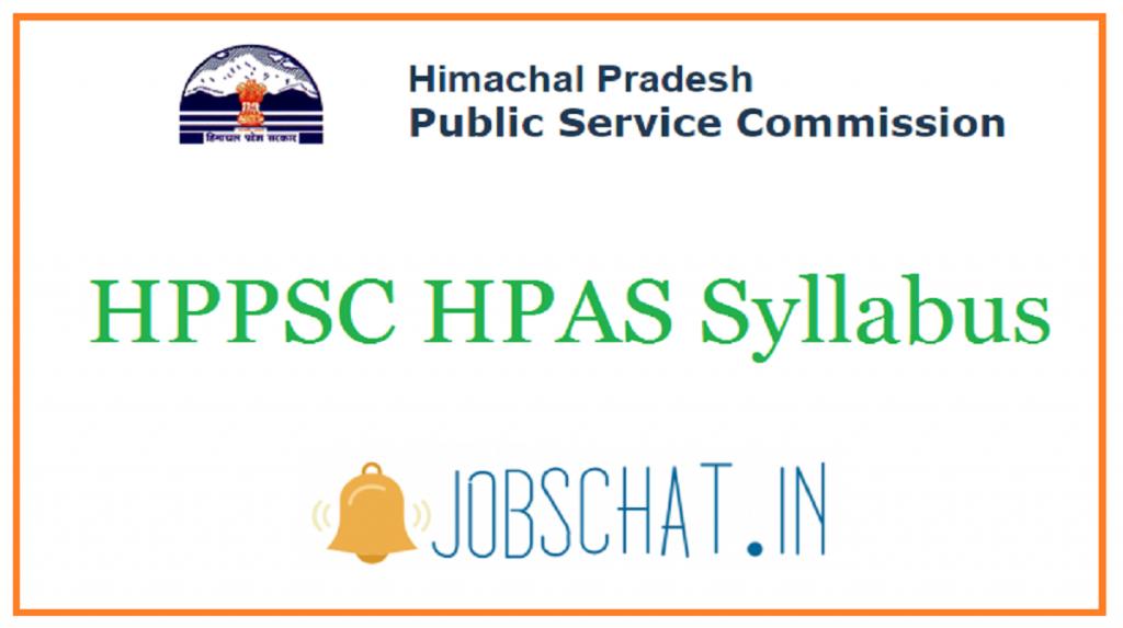 HPPSC HPAS Syllabus