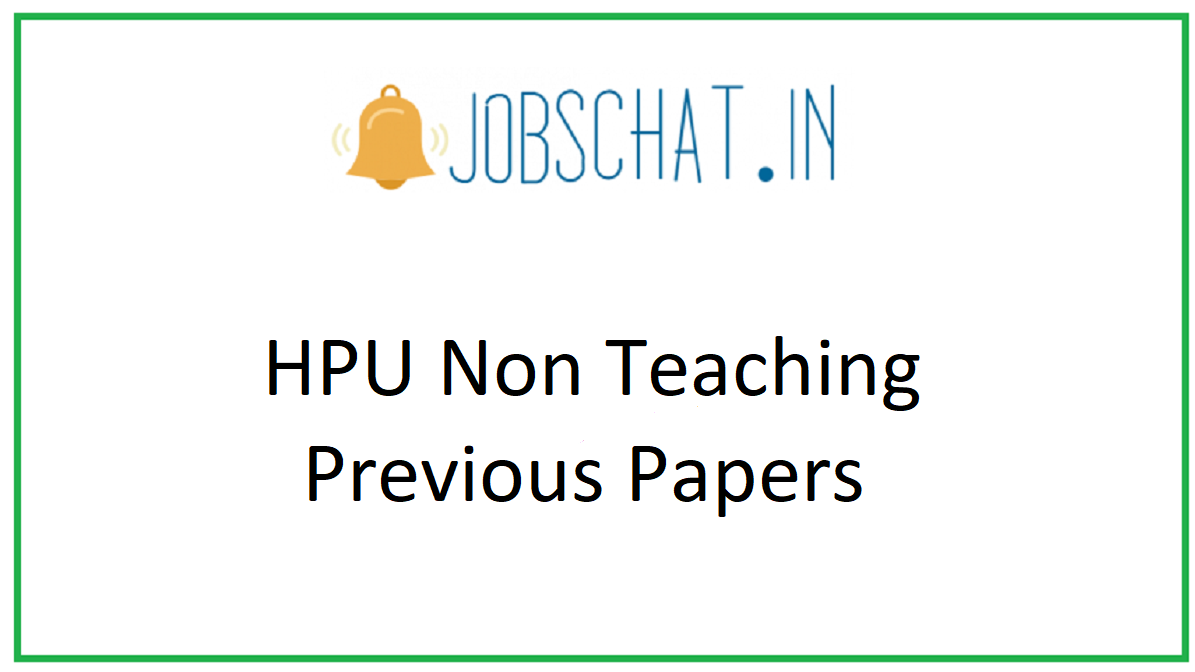 HPU Non Teaching Previous Papers