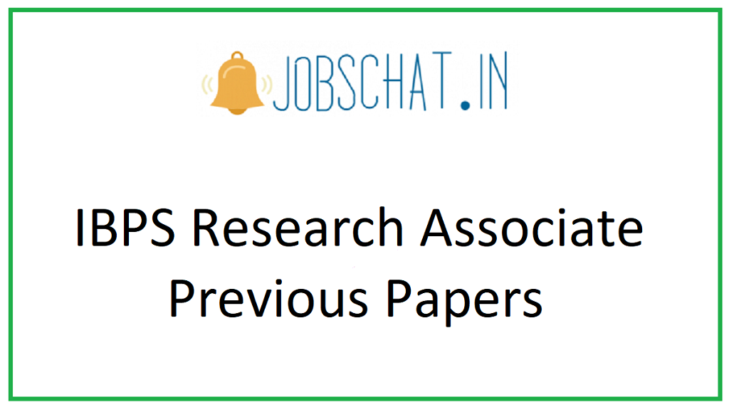 IBPS Research Associate Previous Papers