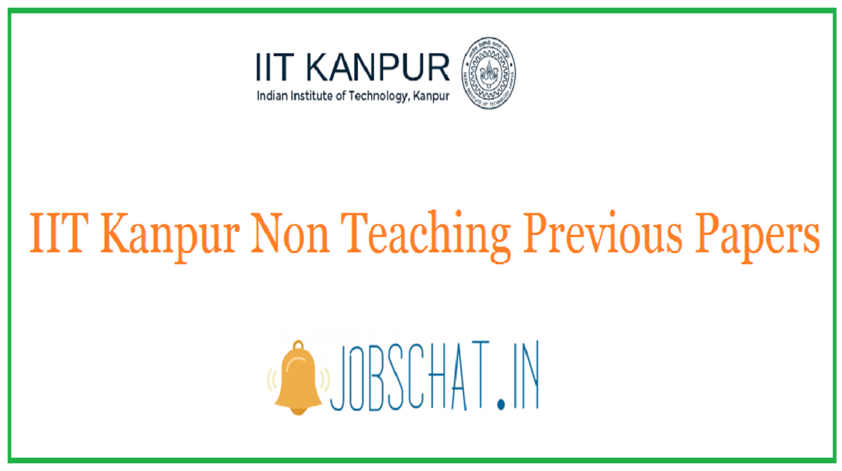 IIT Kanpur Non Teaching Previous Papers