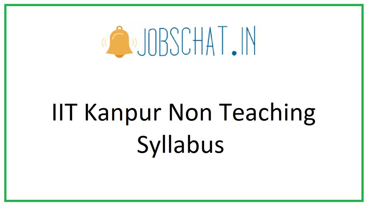 IIT Kanpur Non Teaching Syllabus