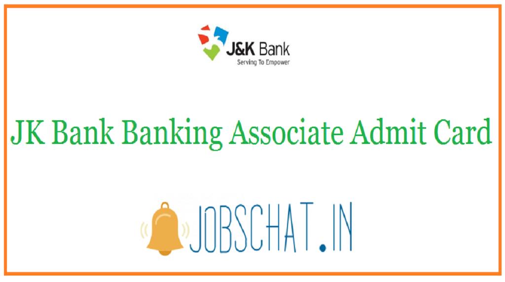 JK Bank Banking Associate Admit Card