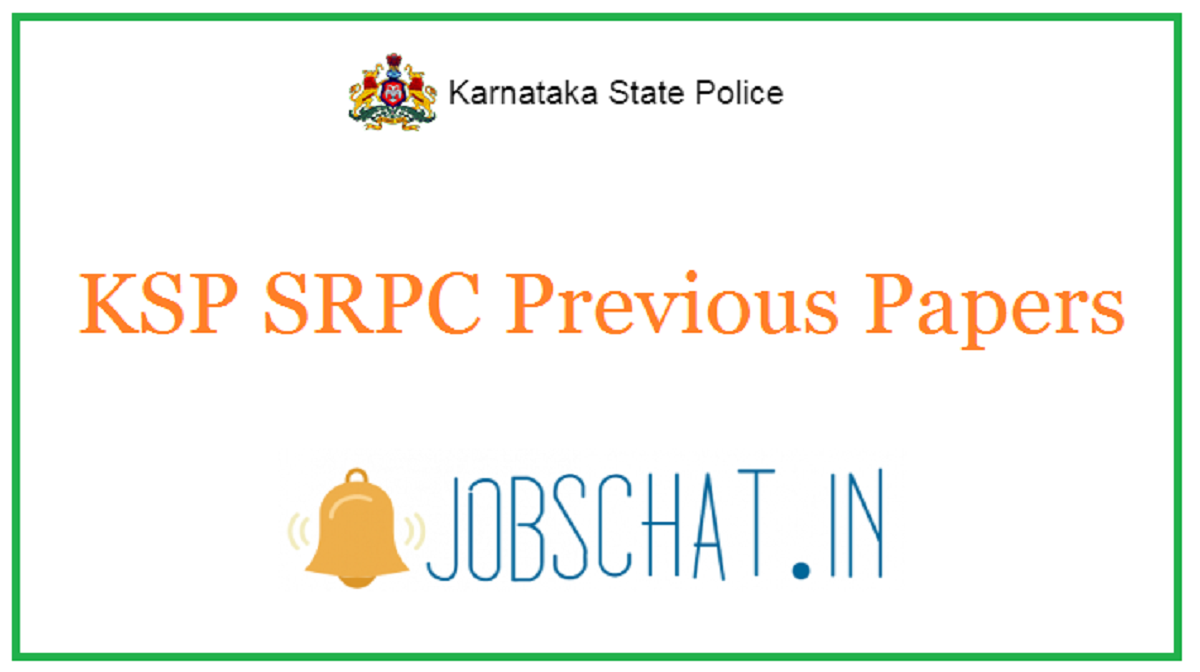 KSP SRPC Previous Papers