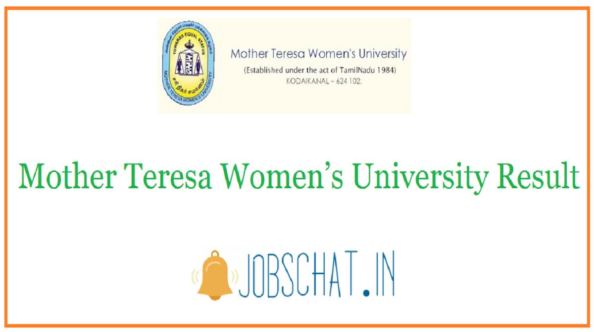 Mother Teresa Women's University Result