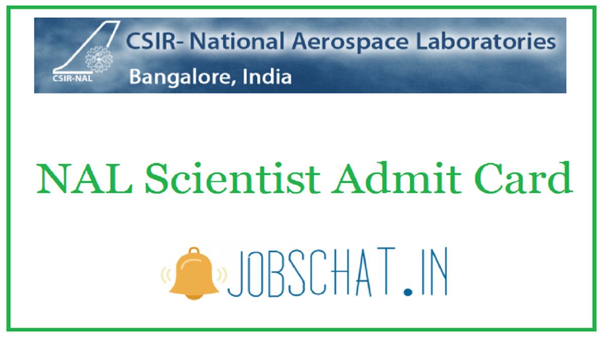 NAL Scientist Admit Card