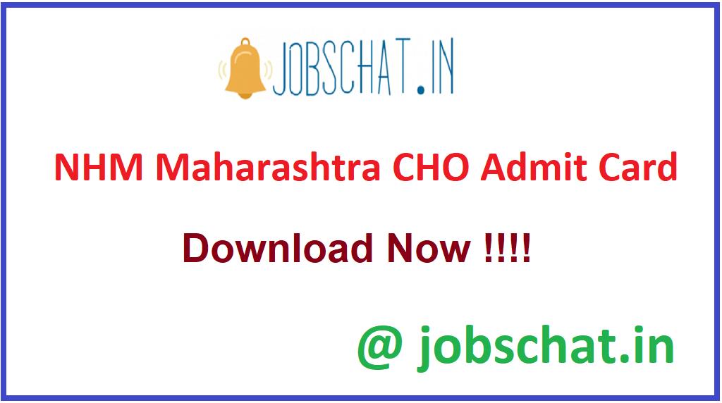 NHM Maharashtra CHO Admit Card