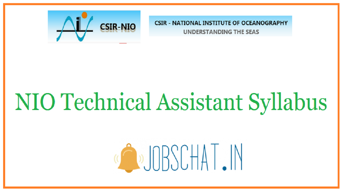 NIO Technical Assistant Syllabus