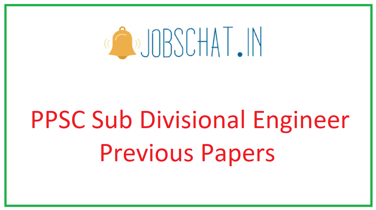 PPSC Sub Divisional Engineer Previous Papers