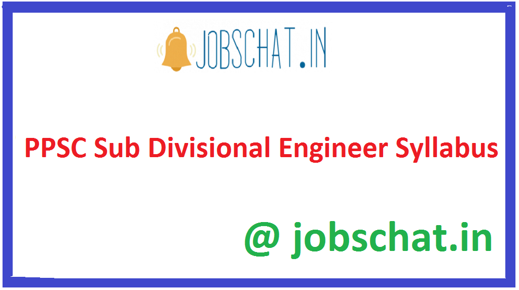 PPSC Sub Divisional Engineer Syllabus