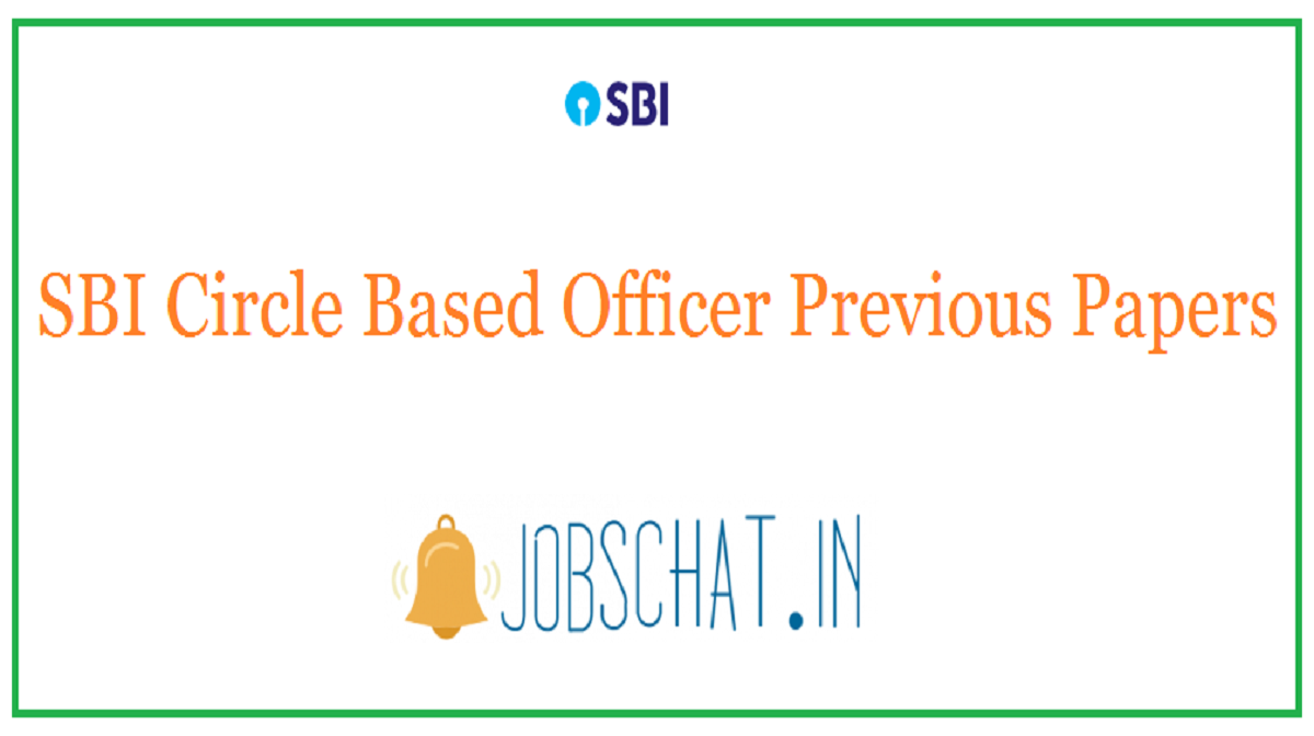 SBI Circle Based Officer Previous Papers