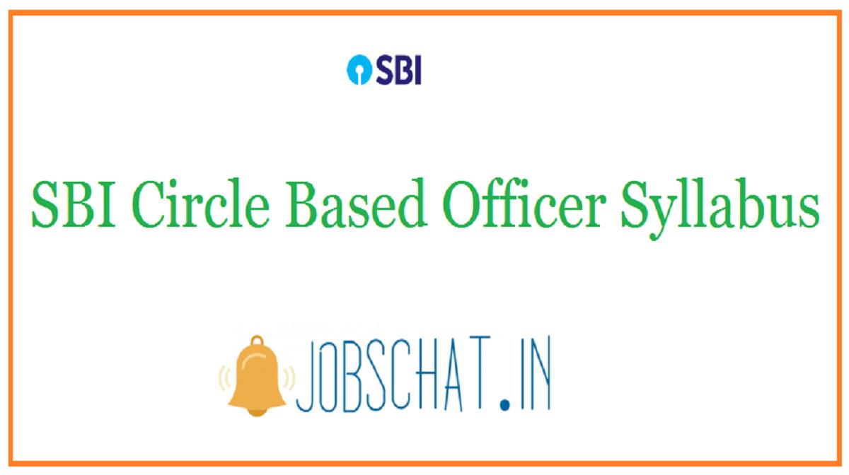 SBI Circle Based Officer Syllabus