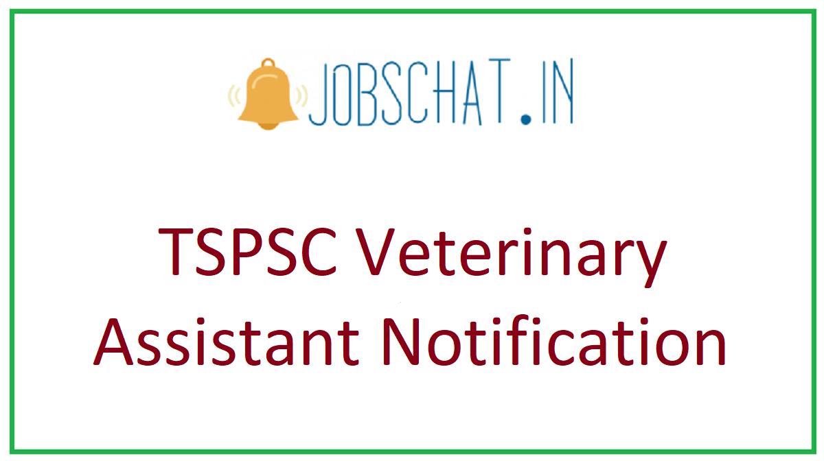 TSPSC Veterinary Assistant Notification