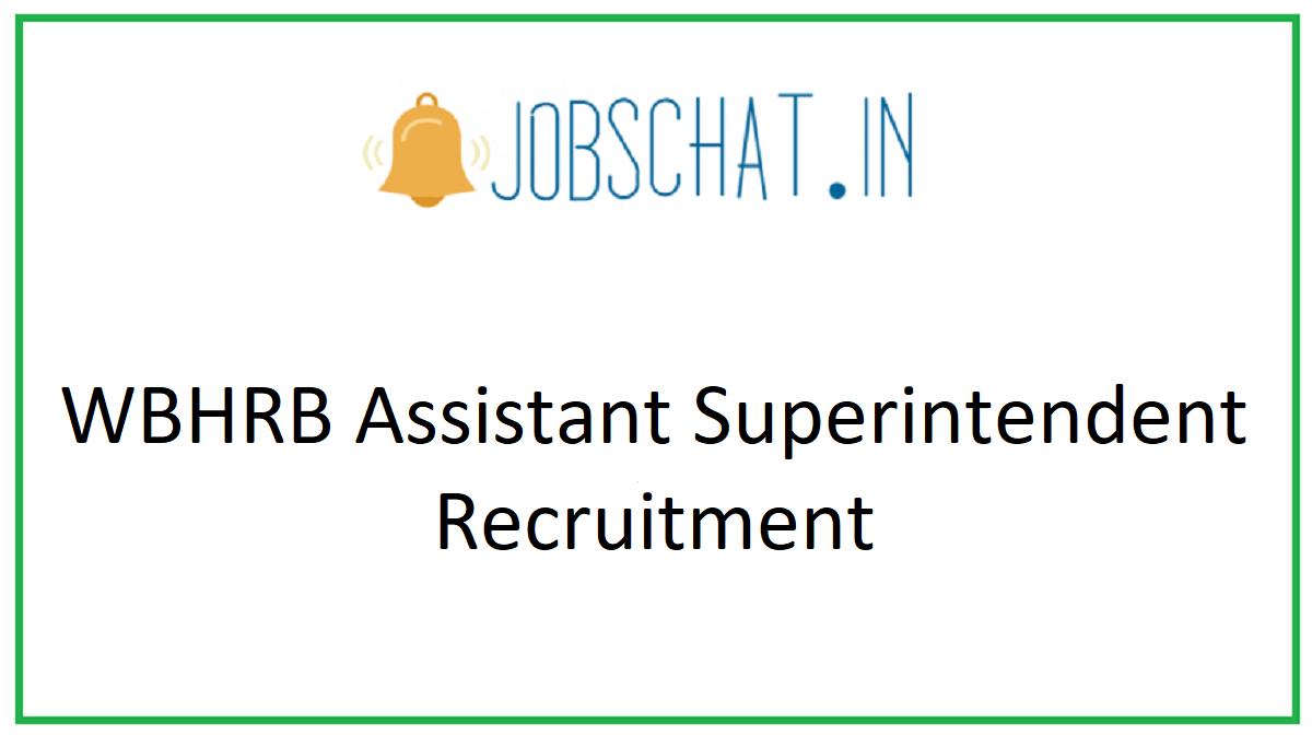 WBHRB Assistant Superintendent Recruitment
