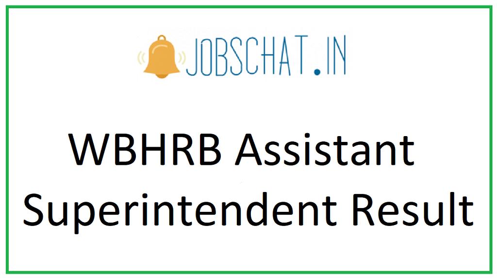 WBHRB Assistant Superintendent Result