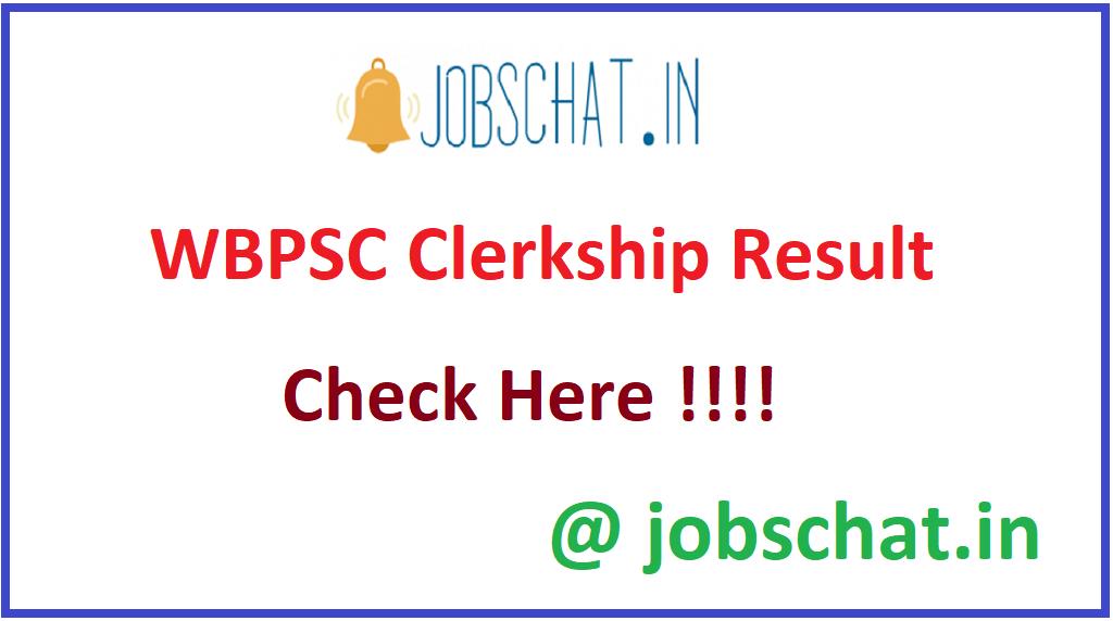 WBPSC Clerkship Result