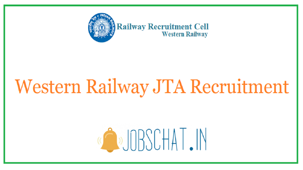 Western Railway JTA Recruitment