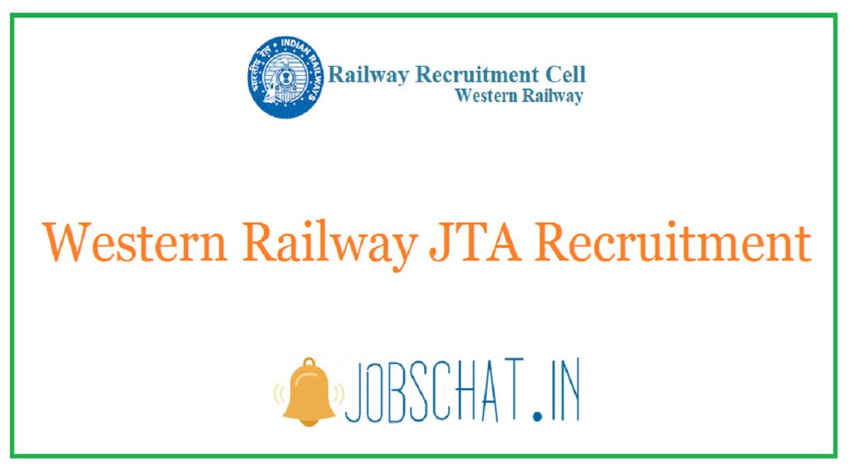 Western Railway JTA Recruitment