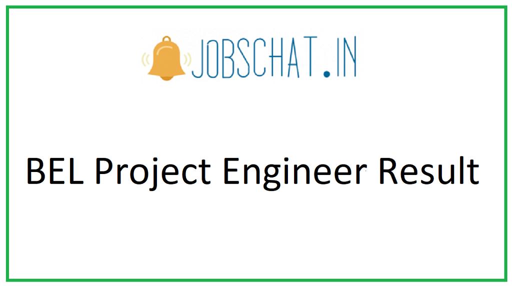BEL Project Engineer Result
