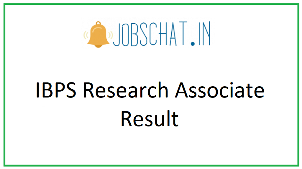 IBPS Research Associate Result