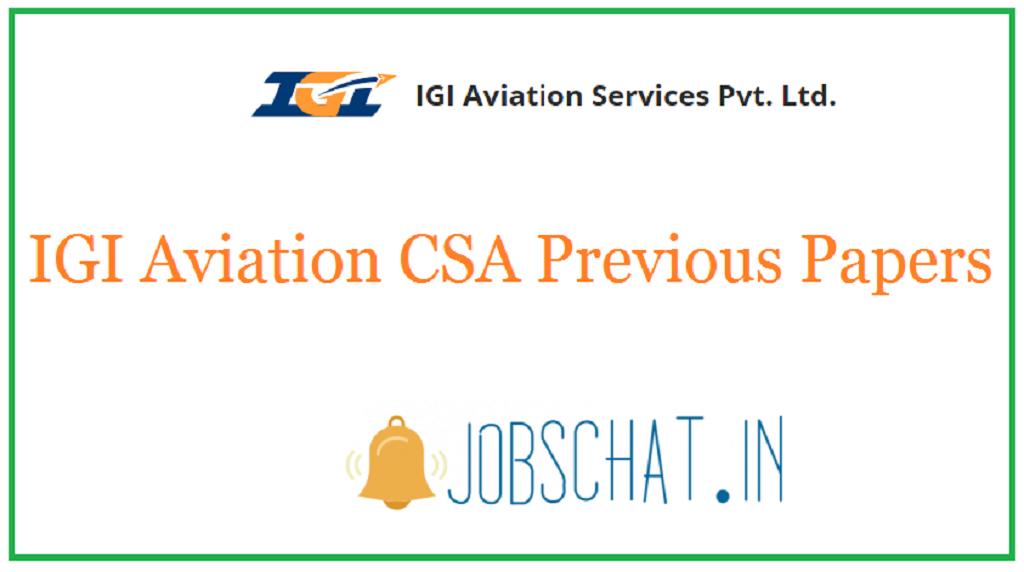 IGI Aviation CSA Previous Papers