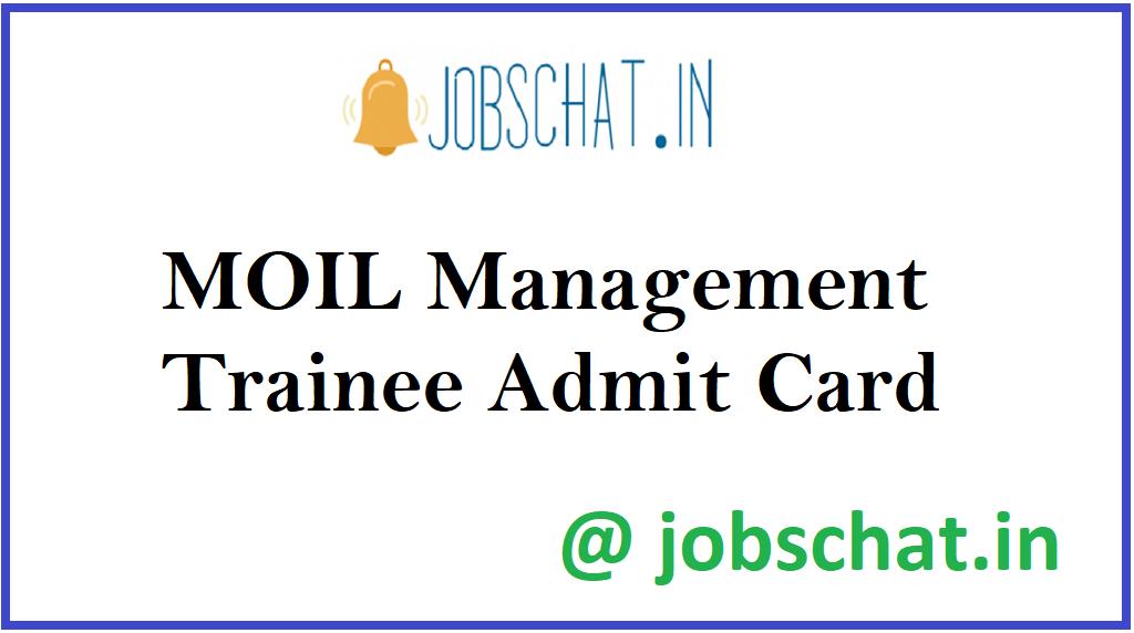 MOIL Management Trainee Admit Card