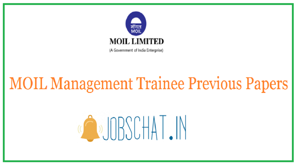 MOIL Management Trainee Previous Papers