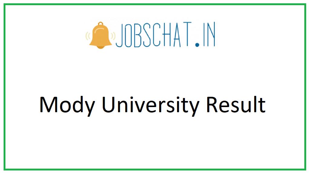Mody University Result