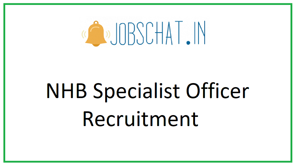 NHB Specialist Officer Recruitment