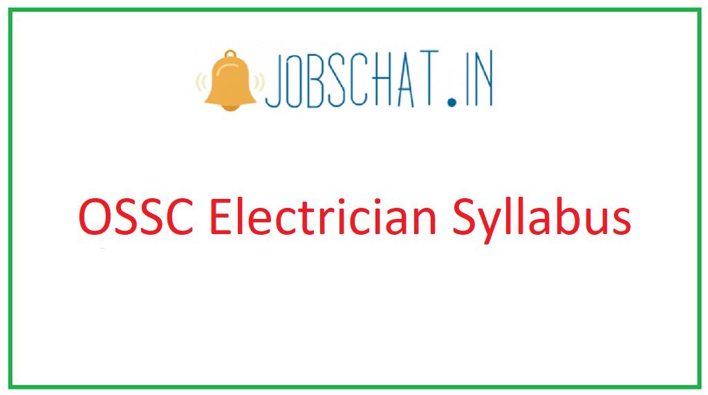 OSSC Electrician Syllabus