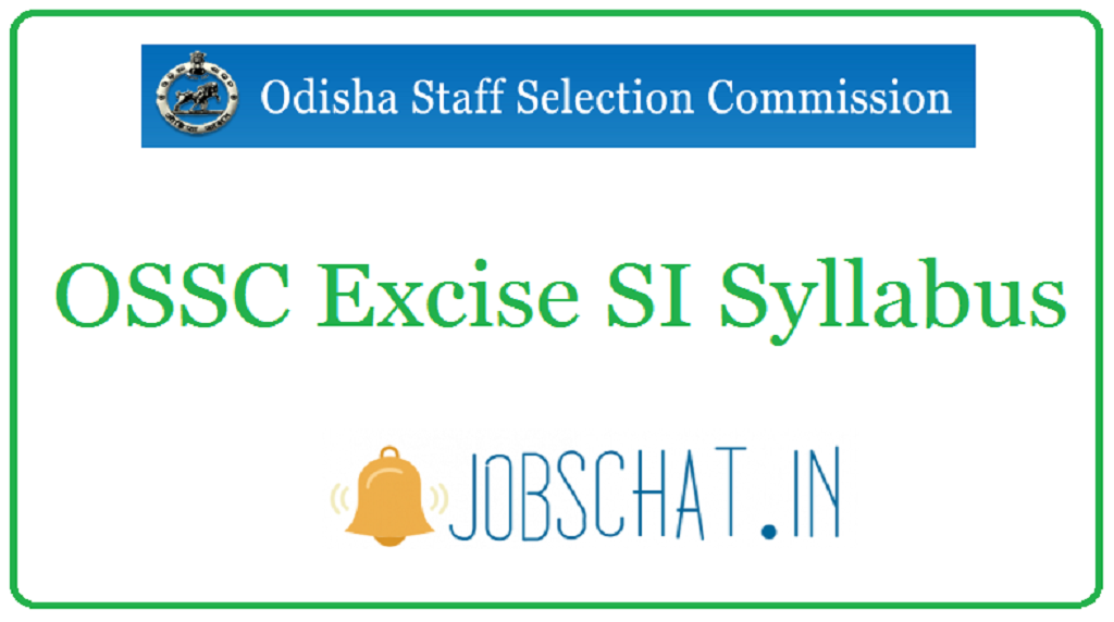 OSSC Excise SI Syllabus