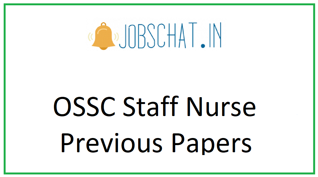 OSSC Staff Nurse Previous Papers