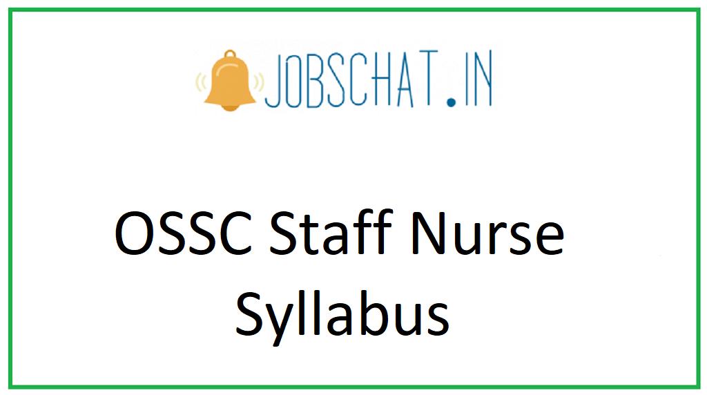 OSSC Staff Nurse Syllabus