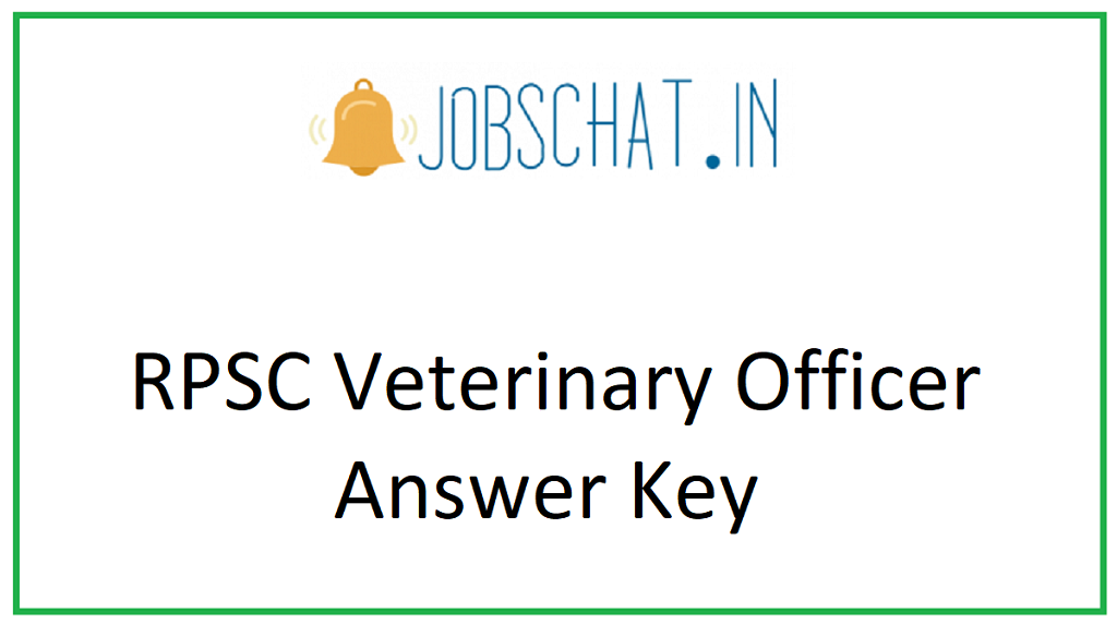 RPSC Veterinary Officer Answer Key