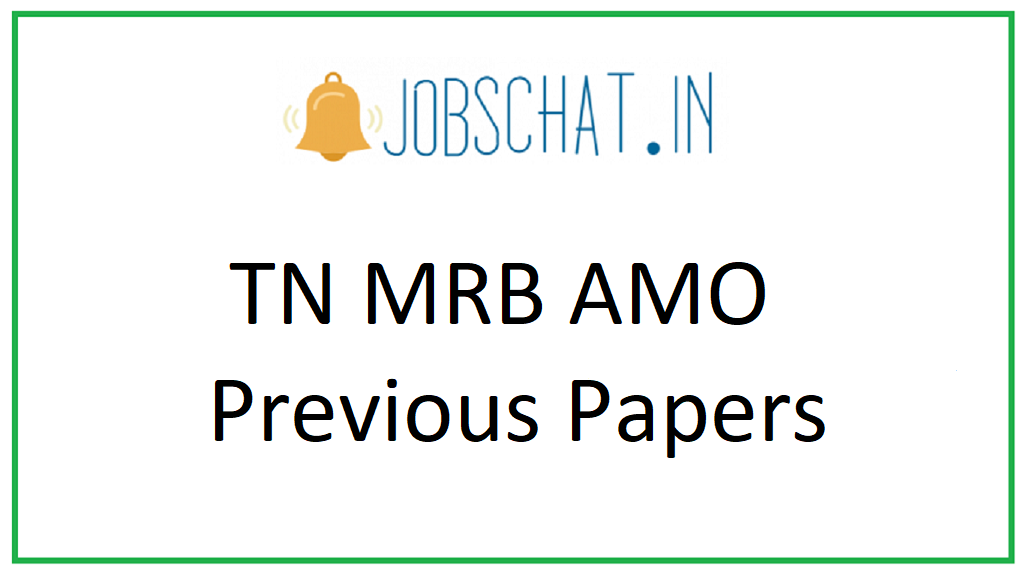 TN MRB AMO Previous Papers