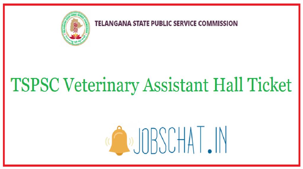 TSPSC Veterinary Assistant Hall Ticket