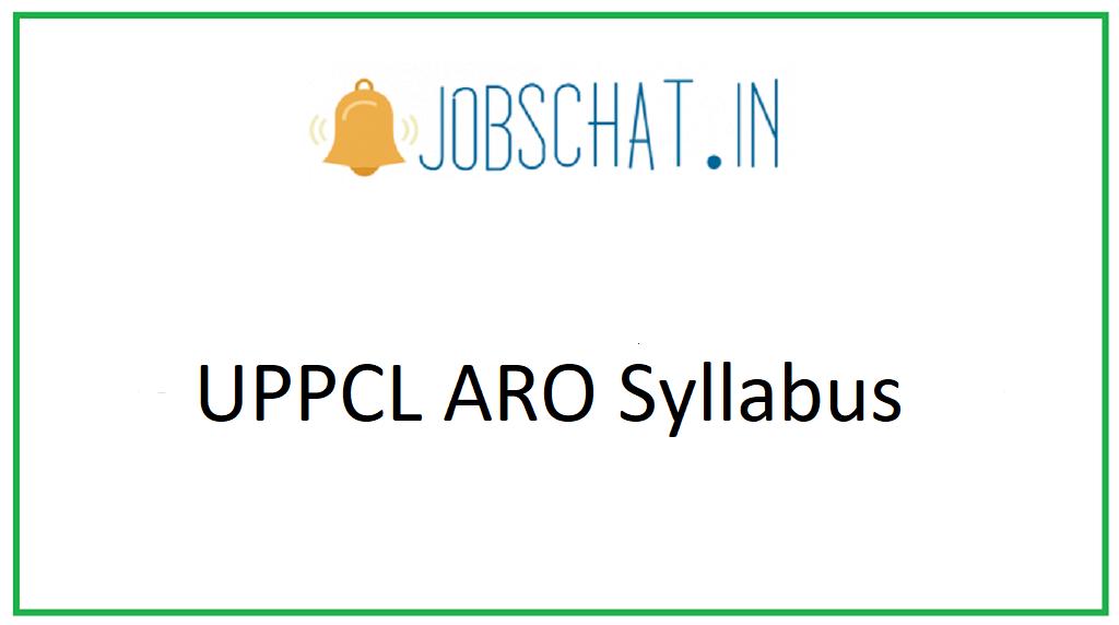 UPPCL ARO Syllabus
