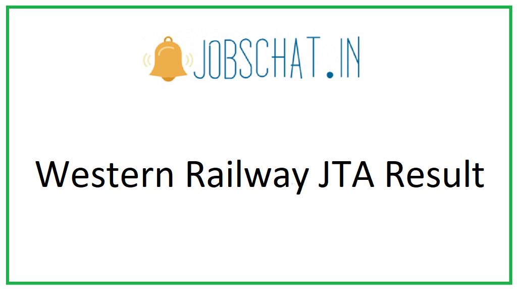 Western Railway JTA Result