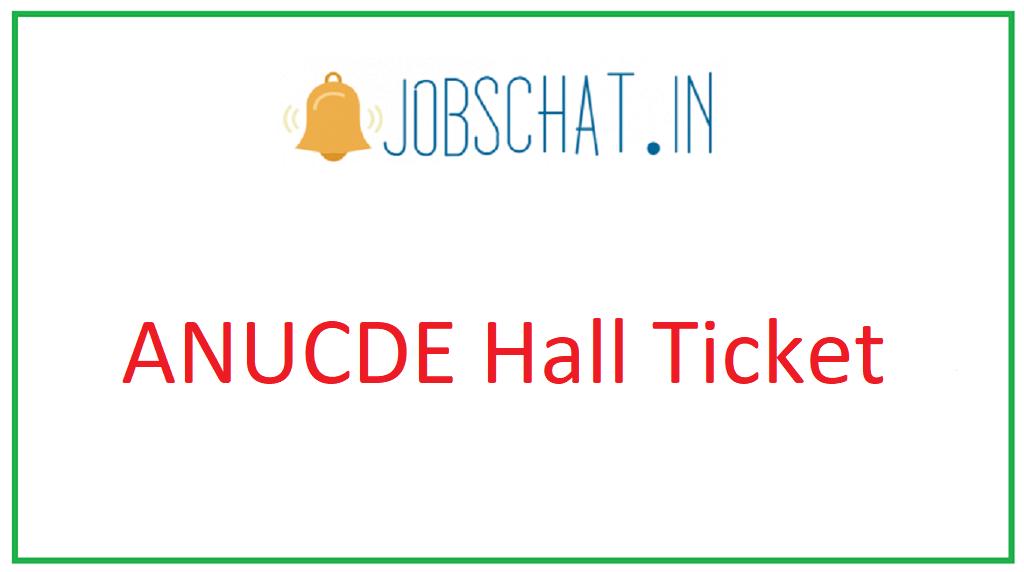ANUCDE Hall Ticket