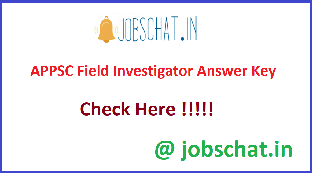 APPSC Field Investigator Answer Key
