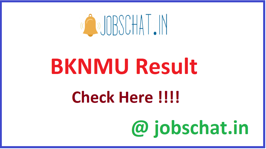 BKNMU Result
