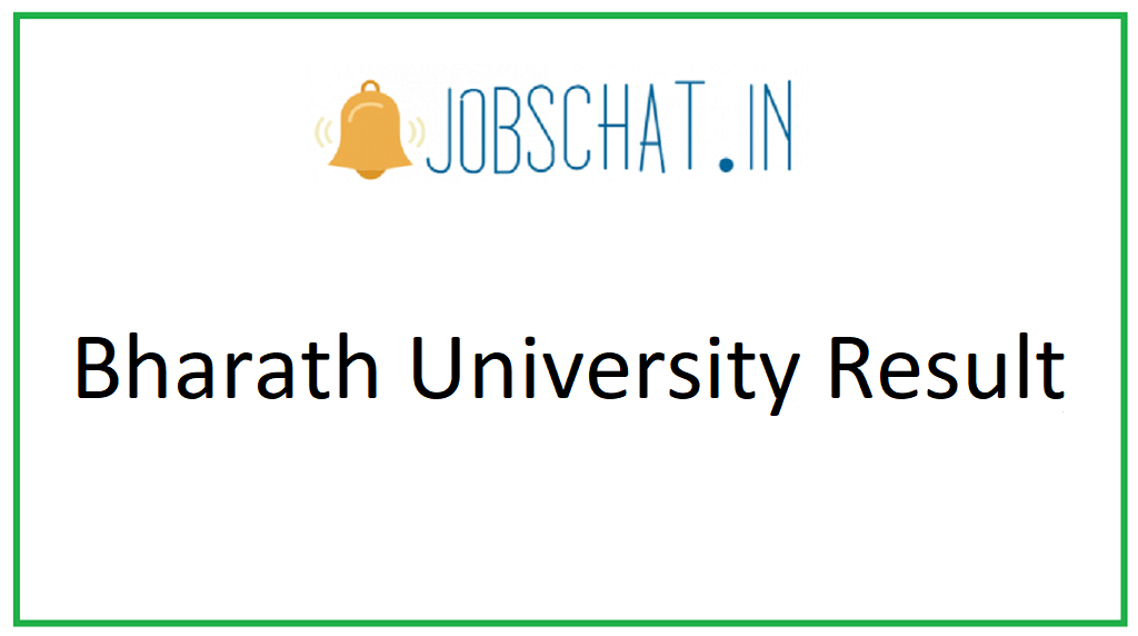 Bharath University Result