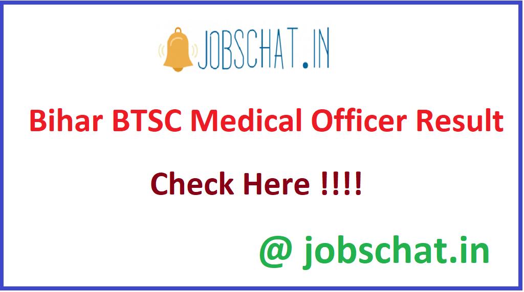 Bihar BTSC Medical Officer Result