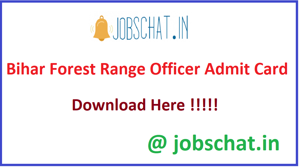 Bihar Forest Range Officer Admit Card