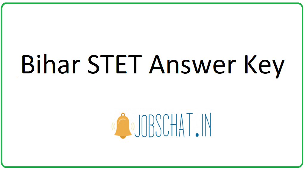 Bihar STET Answer Key