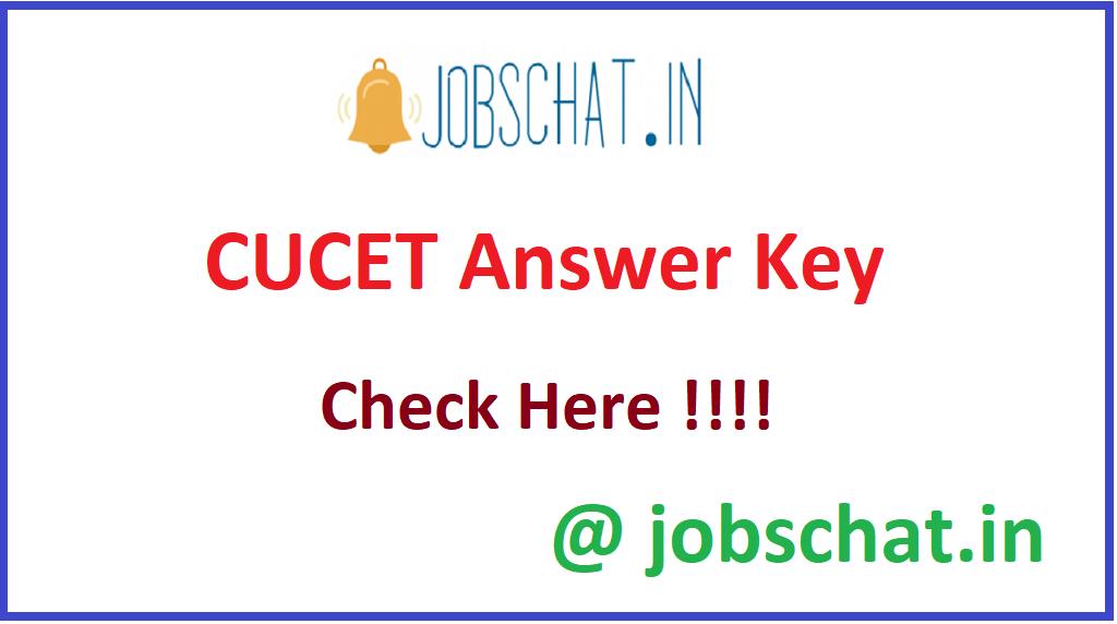 CUCET Answer Key