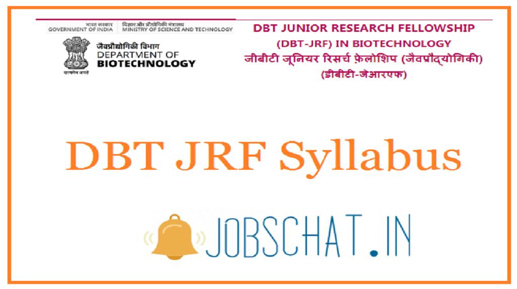 DBT JRF Syllabus